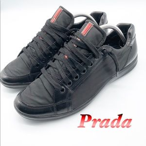 Prada Leather Black 4E2439 Athletic Sneaker M8.5